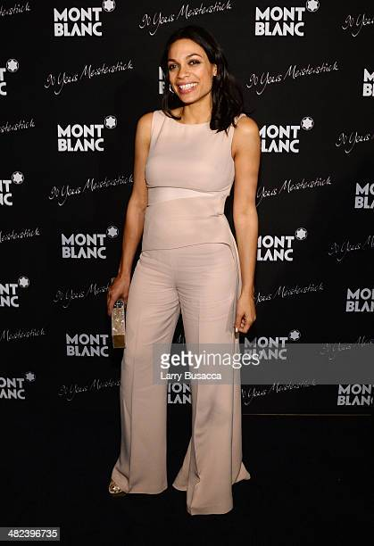 Actress Rosario Dawson attends Montblanc Celebrates 90 Years of the Iconic Meisterstuck on April 3 2014 at Guastavino's in New York City