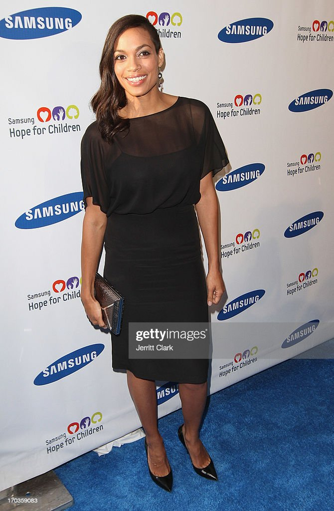 Actress Rosario Dawson attends Samsung Hope For Children 12th Annual Gala at Cipriani Wall Street on June 11, 2013 in New York City.