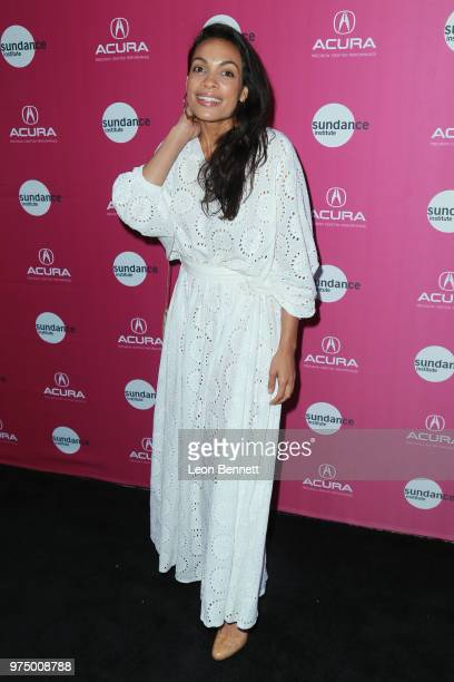 Actress Rosario Dawson attends Sundance Institute At Sundown at The Theatre at Ace Hotel on June 14 2018 in Los Angeles California