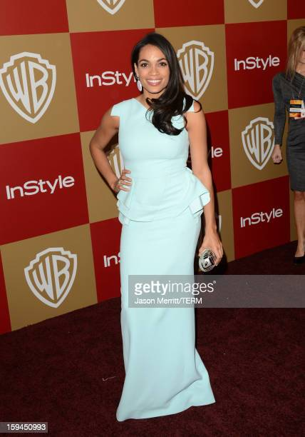 Actress Rosario Dawson attends the 14th Annual Warner Bros And InStyle Golden Globe Awards After Party held at the Oasis Courtyard at the Beverly...