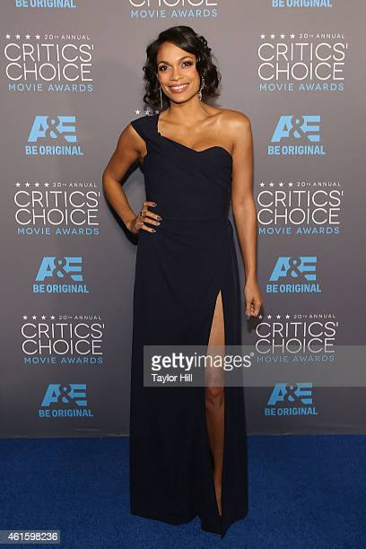 Actress Rosario Dawson attends The 20th Annual Critics' Choice Movie Awards at Hollywood Palladium on January 15 2015 in Los Angeles California