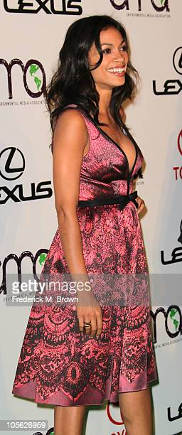 Actress Rosario Dawson attends the 20th annual Enviornmental Media Association Awards at Warner Brothers Studios on October 16 2010 in Burbank...
