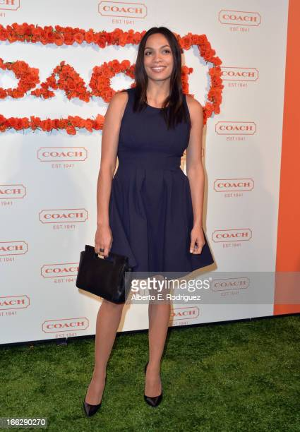 Actress Rosario Dawson attends the 3rd Annual Coach Evening to benefit Children's Defense Fund at Bad Robot on April 10 2013 in Santa Monica...