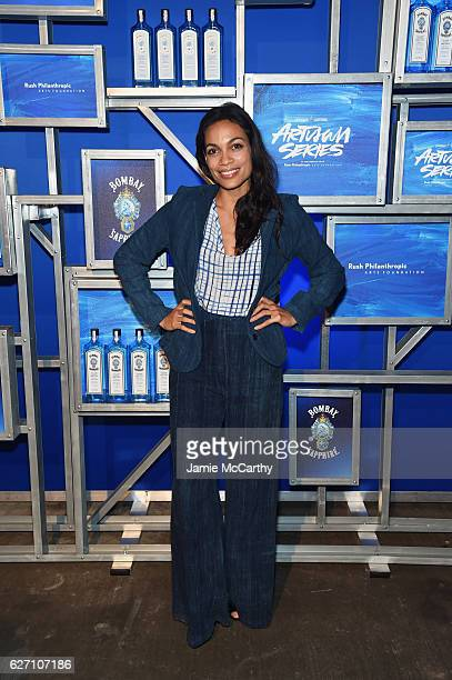 Actress Rosario Dawson attends the 7th Annual Bombay Sapphire Artisan Series Finale hosted by Russell and Danny Simmons at 11 11 Road on December 1...