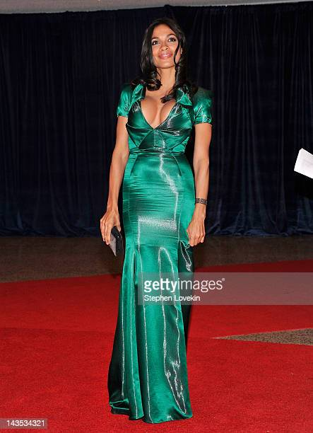 Actress Rosario Dawson attends the 98th Annual White House Correspondents' Association Dinner at the Washington Hilton on April 28 2012 in Washington...