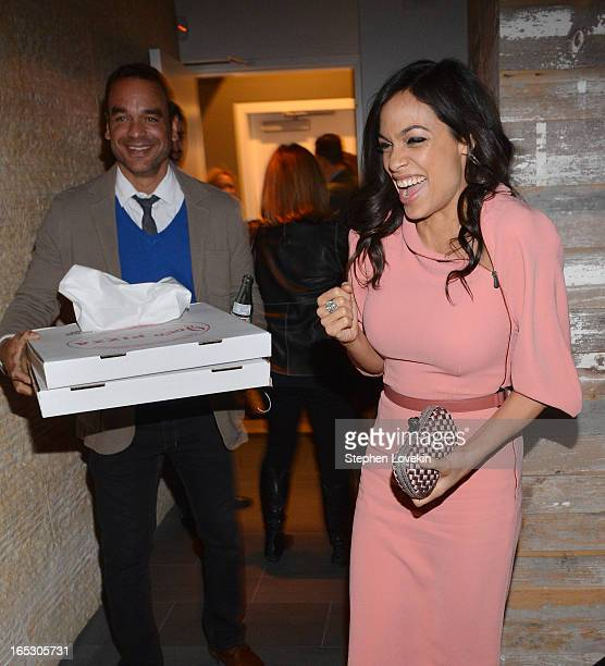 Actress Rosario Dawson attends the after party for the Fox Searchlight Pictures' Premiere Of Trance hosted by The Cinema Society and Montblanc at 497...