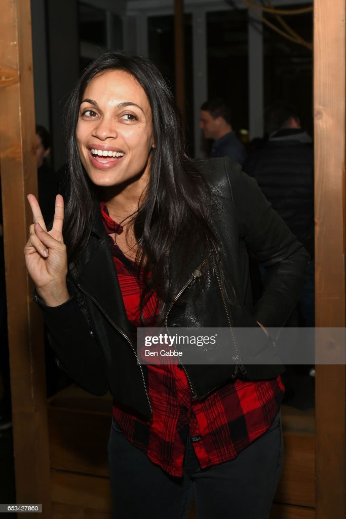 Actress Rosario Dawson attends the after party for the TriStar and Cinema Society screening of 'T2 Trainspotting' at Mr. Purple at the Hotel Indigo LES on March 14, 2017 in New York City.