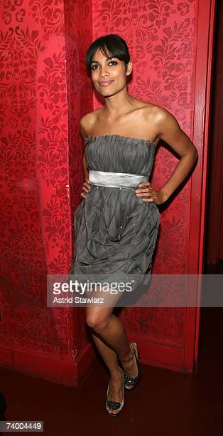 Actress Rosario Dawson attends the after party to the premiere of the movie Descent at HOME on April 26, 2007 in New York City .