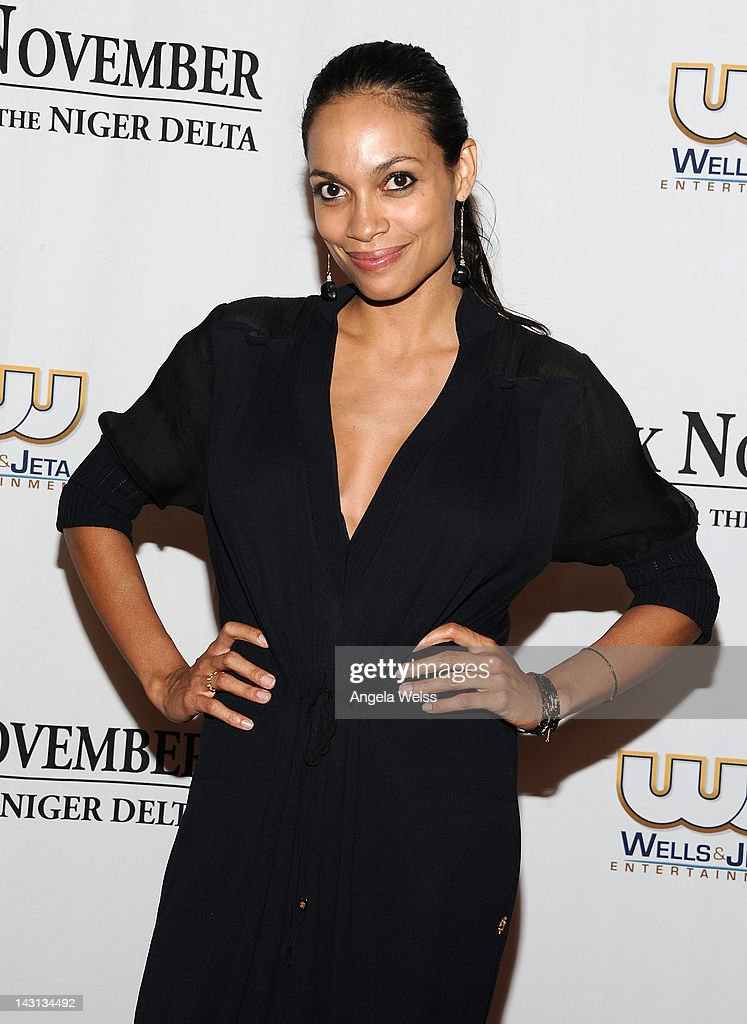 Actress Rosario Dawson attends the 'Black November' screening on April 18, 2012 in Beverly Hills, California.