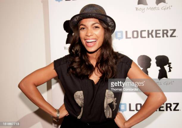 Actress Rosario Dawson attends the Boy Meets Girl by Stacy Igel Lockerz fashion show presented by STYLE360 at the Metropolitan Pavilion on September...