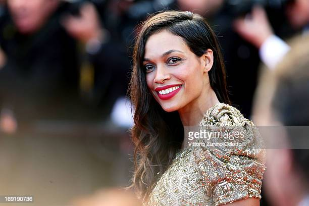 Actress Rosario Dawson attends the 'Cleopatra' premiere during The 66th Annual Cannes Film Festival at The 60th Anniversary Theatre on May 21 2013 in...