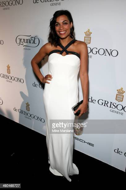 Actress Rosario Dawson attends the De Grisogono dinner party in collaboration with Gyunel during Cannes film festival at Hotel du CapEdenRoc on May...