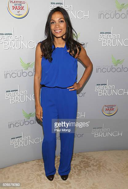 Actress Rosario Dawson attends the Garden Brunch prior to the 102nd White House Correspondents' Association Dinner at the BeallWashington House on...