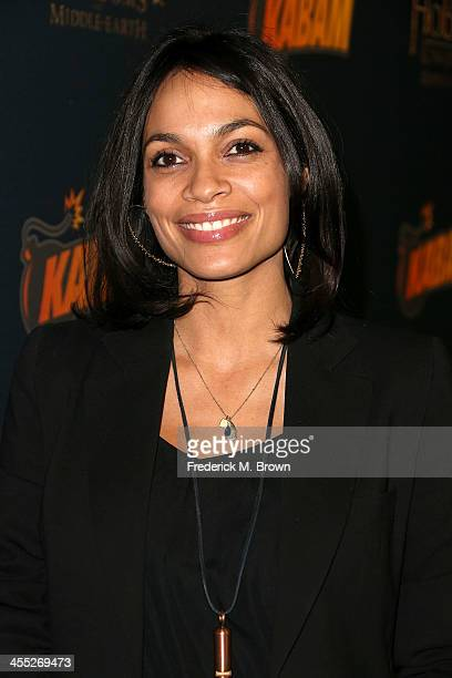 Actress Rosario Dawson attends The Hobbit The Desolation of Smaug Expansion Pack Mobile Game Launch at Eveleigh on December 11 2013 in West Hollywood...