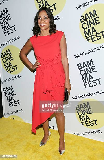 Actress Rosario Dawson attends the Kids 20th Anniversary Screening at BAMcinemaFest 2015 at BAM Peter Jay Sharp Building on June 25 2015 in New York...