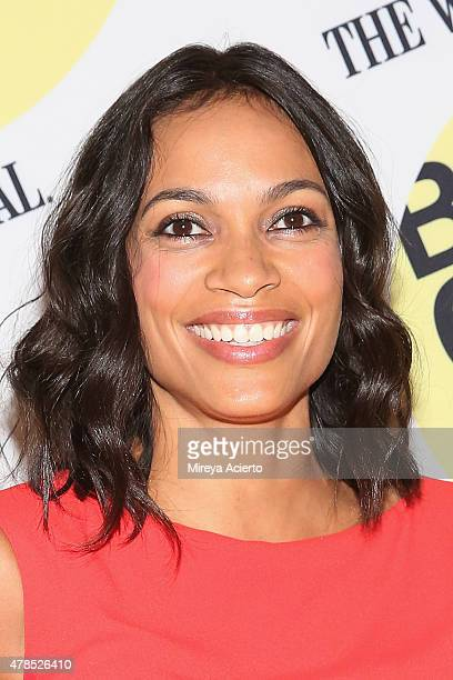 Actress Rosario Dawson attends the Kids 20th Anniversary Screening during BAMcinemaFest 2015 at BAM Peter Jay Sharp Building on June 25 2015 in New...