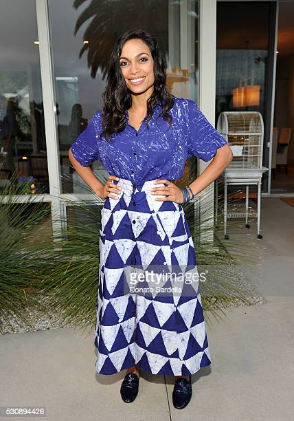 Actress Rosario Dawson attends the launch of Studio 189 for yooxcom Collection at a private residence on May 11 2016 in Beverly Hills California
