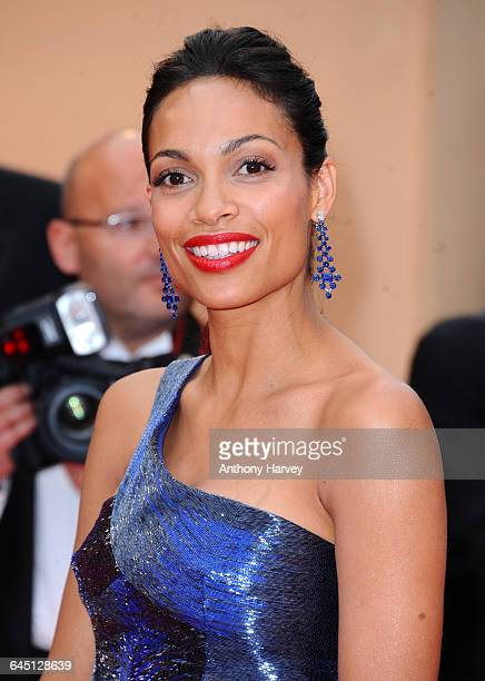 Actress Rosario Dawson attends the 'Les BienAimes' Premiere and Closing Ceremony at the Palais des Festivals during the 64th Cannes Film Festival on...