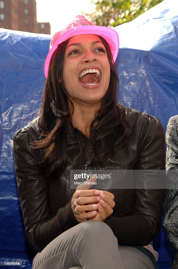Actress Rosario Dawson attends the Lower Eastside Girls Club groundbreaking on October 29, 2010 in New York City.