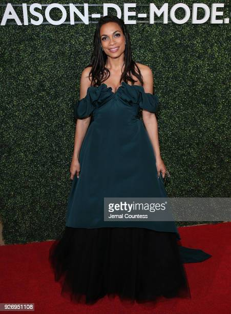 Actress Rosario Dawson attends the MAISONDEMODE Celebrates Sustainable Style By Honoring Suzy Amis Cameron Of Red Carpet Green Dress at Sunset Tower...