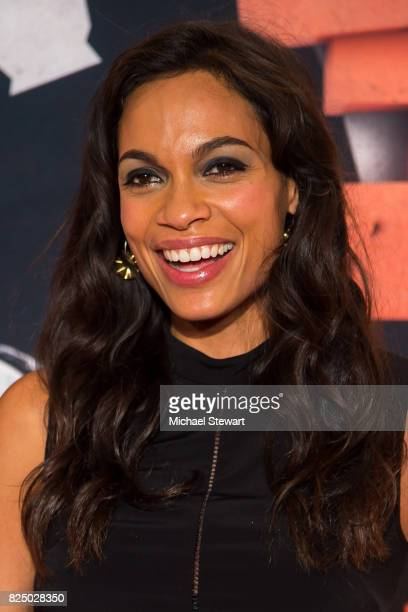 Actress Rosario Dawson attends the 'Marvel's The Defenders' New York premiere at Tribeca Performing Arts Center on July 31 2017 in New York City