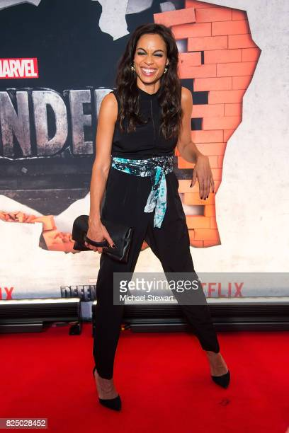 Actress Rosario Dawson attends the 'Marvel's The Defenders' New York premiere at Tribeca Performing Arts Center on July 31, 2017 in New York City.