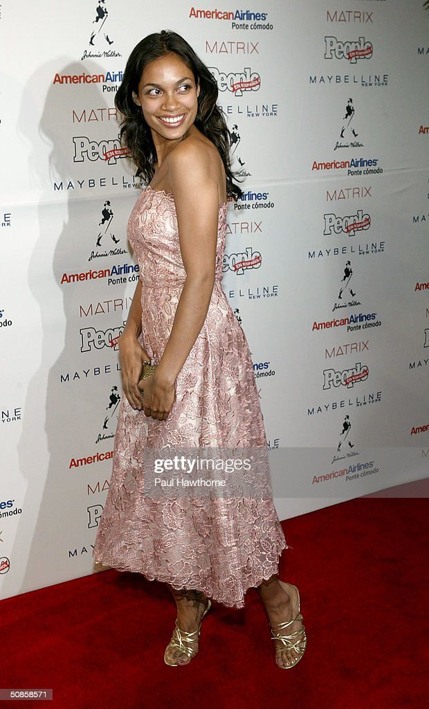 Actress Rosario Dawson attends the 'People En Espanol' 50 Most Beautiful People Gala at Splashlight Studios May 19, 2004 in New York City.