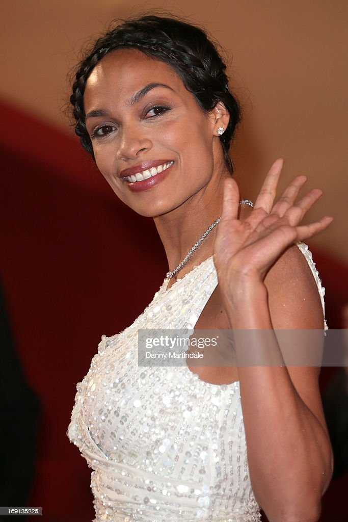 Actress Rosario Dawson attends the Premiere of 'As I Lay Dying' during the 66th Annual Cannes Film Festival at the Palais des Festivals on May 20, 2013 in Cannes, France.