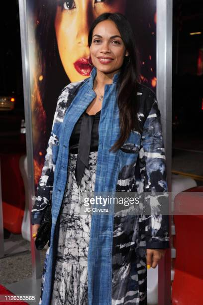 Actress Rosario Dawson attends the premiere of Columbia Pictures' 'Miss Bala' at Regal LA Live Stadium 14 on January 30 2019 in Los Angeles California