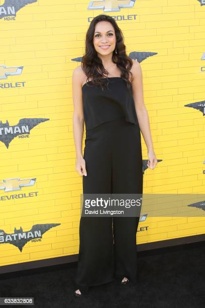 Actress Rosario Dawson attends the Premiere of Warner Bros Pictures' The LEGO Batman Movie at the Regency Village Theatre on February 4 2017 in...