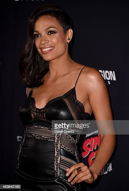 Actress Rosario Dawson attends the 'Sin City A Dame To Kill For' Los Angeles premiere at TCL Chinese Theatre on August 19 2014 in Hollywood California
