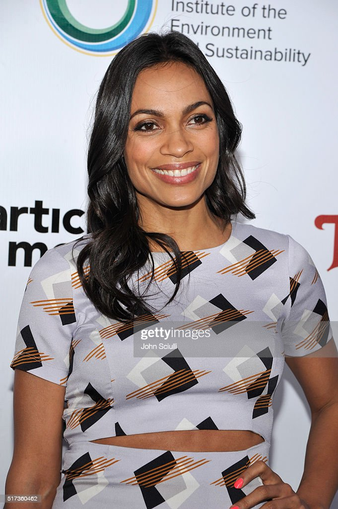 Actress Rosario Dawson attends UCLA Institute of the Environment and Sustainability annual Gala on March 24, 2016 in Beverly Hills, California.