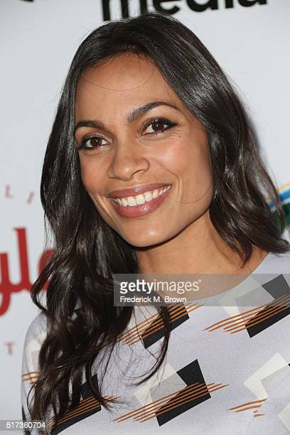 Actress Rosario Dawson attends UCLA IOES celebration of the Champions of our Planet's Future on March 24 2016 in Beverly Hills California