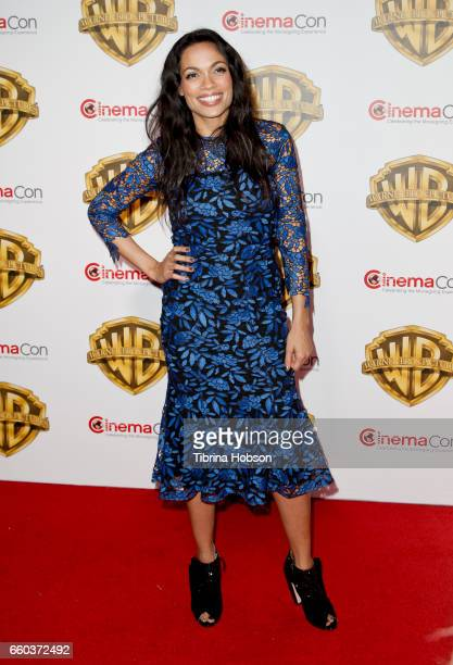 Actress Rosario Dawson attends Warner Bros Pictures 'The Big Picture' an exclusive presentation of our upcoming slate at The Colosseum at Caesars...