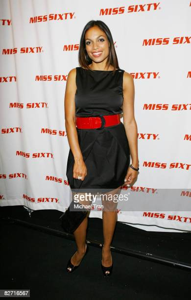 Actress Rosario Dawson backstage at the Miss Sixty Spring 2009 Collection during MercedesBenz Fashion Week at the Tent in Bryant Park on September 7...