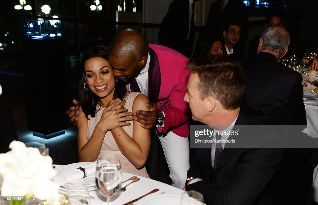 Actress Rosario Dawson, model Tyson Beckford, and actor Edward Norton attend Montblanc Celebrates 90 Years of the Iconic Meisterstuck on April 3, 2014 at Guastavino's in New York City.