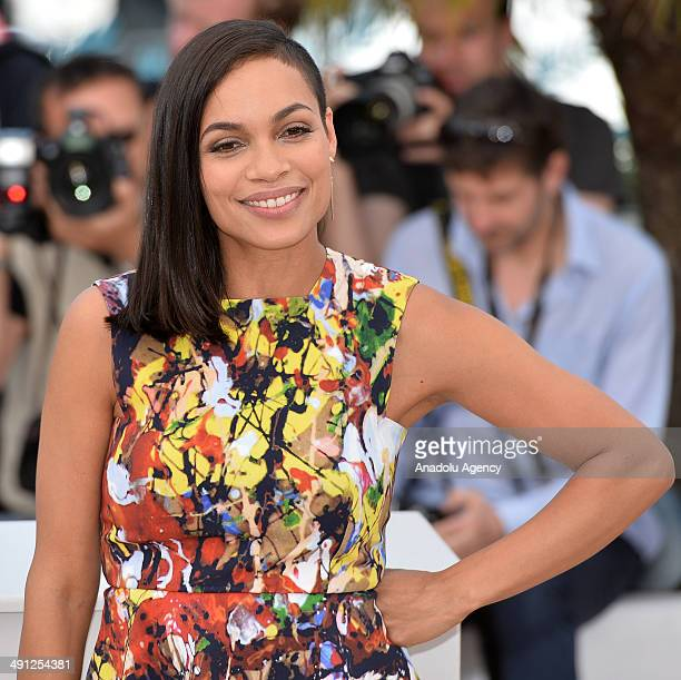 US actress Rosario Dawson poses during a photocall for the film Captives in competition at the 67th Cannes Film Festival in Cannes France May 16 2014