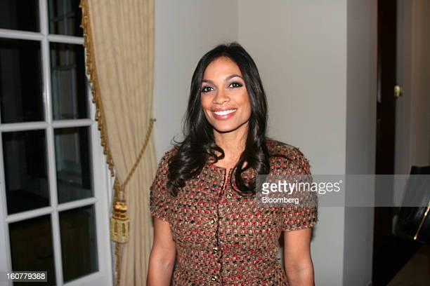 Actress Rosario Dawson poses for a portrait at the residence of British Ambassador Peter Westmacott in Washington DC US on Saturday Jan 192013...