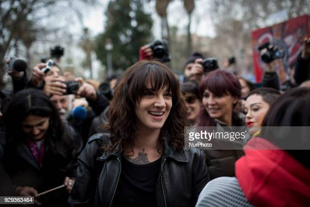 Actress Rose Asia Argento who spoke out against Hollywood tycoon Harvey Weinstein in the sex abuse scandal that involved the producer takes part in a...