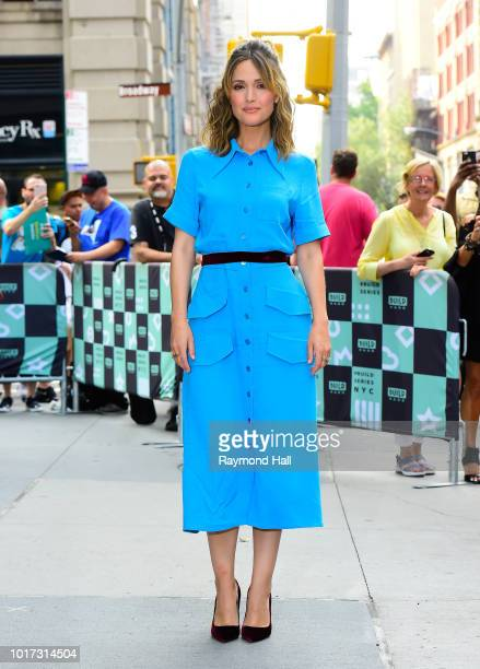 Actress Rose Bryne is seen outside AOL Live on August 15 2018 in New York City