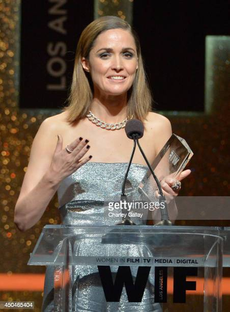 Actress Rose Byrne accepts the Max Mara Face of the Future award onstage at Women In Film 2014 Crystal Lucy Awards presented by MaxMara BMW...