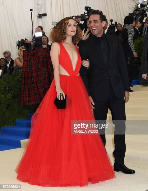 Actress Rose Byrne and Actor Bobby Cannavale arrive for the Costume Institute Benefit May 1 2017 at the Metropolitan Museum of Art in New York / AFP...