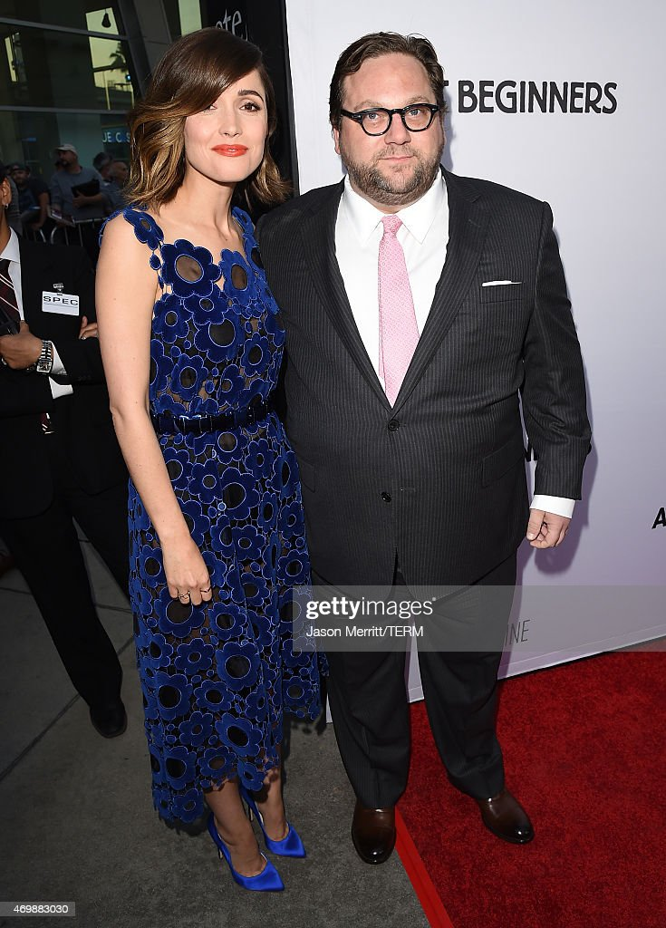 Actress Rose Byrne and Director Ross Katz attend the premiere of 'Adult Beginners' at ArcLight Hollywood on April 15, 2015 in Hollywood, California.