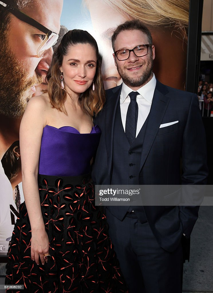 Actress Rose Byrne (L) and Writer/producer/actor Seth Rogen attend the premiere of Universal Pictures' 'Neighbors 2: Sorority Rising' at the Regency Village Theatre on May 16, 2016 in Westwood, California.