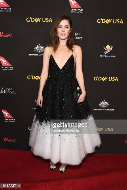 Actress Rose Byrne arrives at the 2018 G'Day USA Los Angeles Black Tie Gala at the InterContinental Los Angeles Downtown on January 27 2018 in Los...