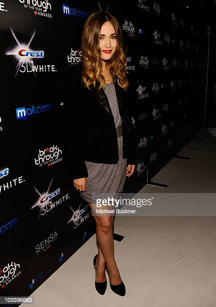 Actress Rose Byrne arrives at the Breakthrough Of The Year Awards Presented By Crest 3D White at the Pacific Design Center on August 15 2010 in West...