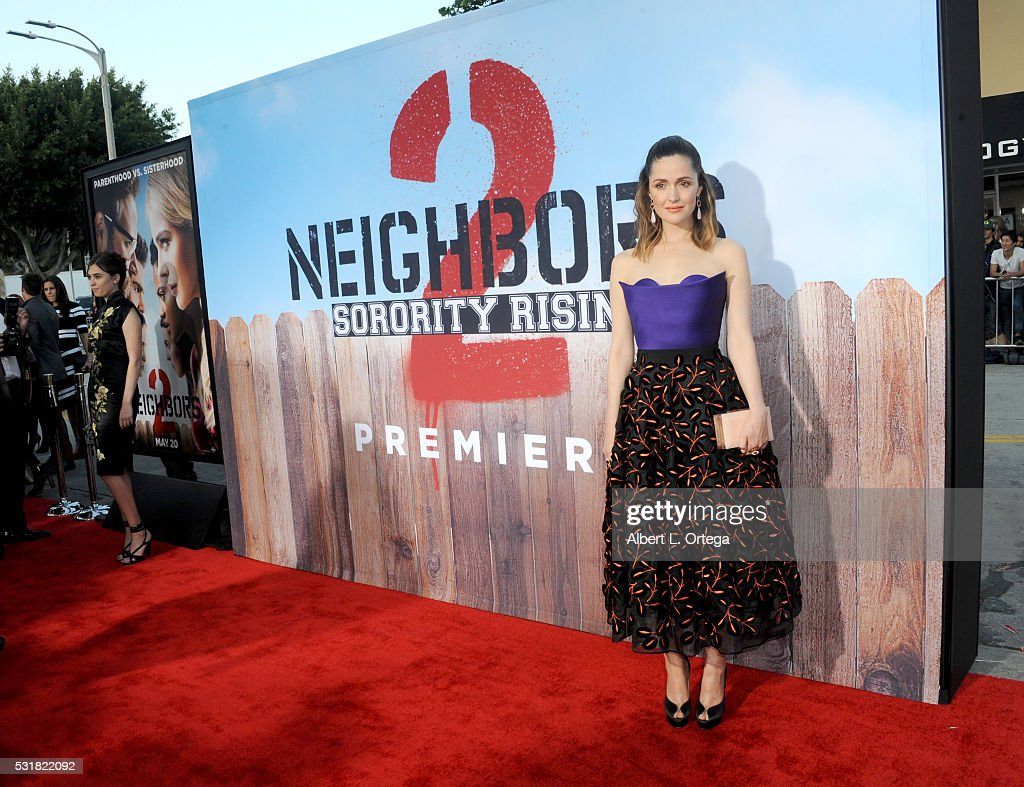 Actress Rose Byrne arrives for the Premiere Of Universal Pictures' 'Neighbors 2: Sorority Rising' held at Regency Village Theatre on May 16, 2016 in Westwood, California.