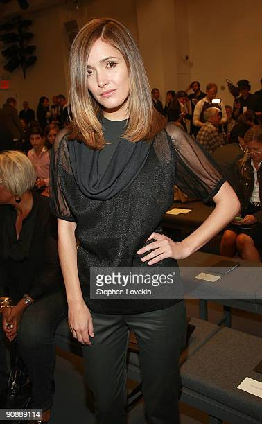 Actress Rose Byrne attends Calvin Klein Spring 2010 fashion show at 205 West 39th Street on September 17 2009 in New York New York