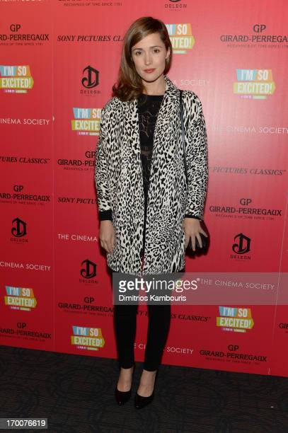 Actress Rose Byrne attends GirardPerregaux And The Cinema Society With DeLeon Host a Screening Of Sony Pictures Classics' I'm So Excited at Sunshine...
