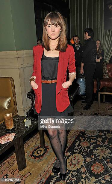 Actress Rose Byrne attends the after party for the Cinema Society Montblanc screening of Cracks at the Soho Grand Hotel on March 16 2011 in New York...